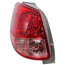 Driver Side Tail Light, Without bulb(s) - Pink & Red Lens