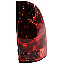 Passenger Side Tail Light, With bulb(s) - Red Lens