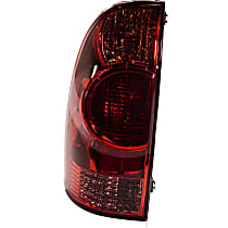 Driver Side Tail Light, With bulb(s) - Red Lens