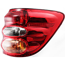 Passenger Side, Outer Tail Light, With bulb(s) - Amber, Clear & Red Lens