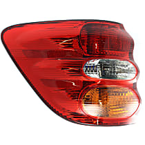 Driver Side, Outer Tail Light, With bulb(s) - Amber, Clear & Red Lens
