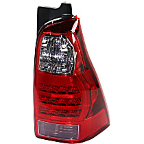 Passenger Side Tail Light, Without bulb(s) - Clear, Red & Smoked Lens