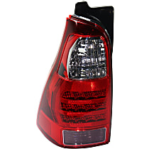 Driver Side Tail Light, Without bulb(s) - Clear, Red & Smoked Lens
