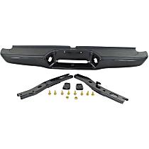 Powdercoated Black Step Bumper, w/ Mounting Brackets, w/ Step Pads, Fleetside/Styleside Models