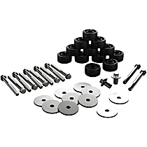 4152100 Body Lift Kit - Black, Polyethylene, Direct Fit, Kit