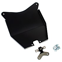 4607100 Skid Plate, Powdercoated Black, Steel, Direct Fit