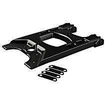 4838100 Spare Tire Carrier - Black, Aluminum, Direct Fit, Sold individually