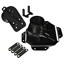 4838130 Spare Tire Carrier - Black, Steel, Direct Fit, Sold individually