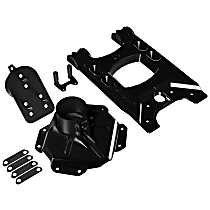 4838150 Spare Tire Carrier - Black, Aluminum and Steel, Direct Fit, Kit