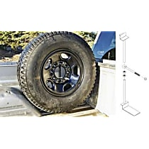 9901330 Spare Tire Carrier - Powdercoated Black, Steel, Direct Fit, Sold individually