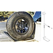 Spare Tire Carrier - Powdercoated Black, Steel, Direct Fit, Sold individually