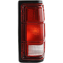 Passenger Side Tail Light, Without bulb(s) - Clear & Red Lens, w/ Black Trim