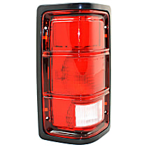 Driver Side Tail Light, Without bulb(s) - Excluding Bulbs/Socket, w/ Black Outer Trim, w/o Chrome Inner Stripes