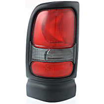 Driver Side Tail Light, Without bulb(s) - Clear & Red Lens, w/o Sport Package, Old Body Style