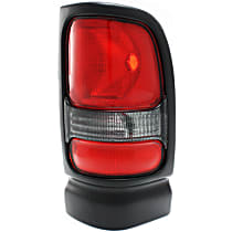 Passenger Side Tail Light, Without bulb(s) - Clear & Red Lens, w/o Sport Package, Old Body Style
