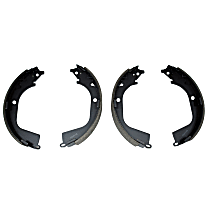 Brake Shoe Set - Carbon Steel, Direct Fit, 2-Wheel Set Rear