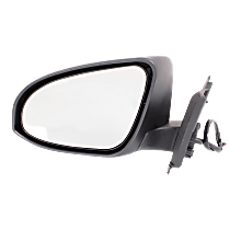 Mirror - Driver Side, Power, Heated, Folding, Paintable, For France Built Models