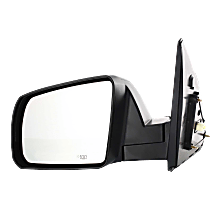 Mirror - Driver Side, Power, Heated, Folding, Textured Black, For Cold Climate Specification