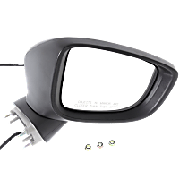 Mirror Manual Folding Non-Heated - Passenger Side, Power Glass, In-housing Signal Light, Paintable