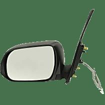 Mirror - Driver Side, Power, Folding, Textured Black