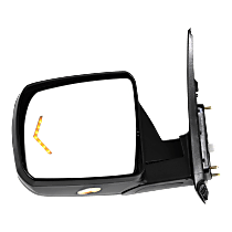 Mirror - Driver Side, Power, Heated, Power Folding, Chrome, With Turn Signal, Memory and Puddle Lamp