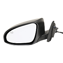 Mirror - Driver Side, Power, Heated, Folding, Paintable, With Turn Signal, Memory