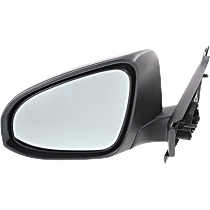 Mirror - Driver Side, Textured Black, For Models Built in Japan
