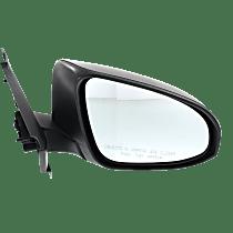 Mirror - Passenger Side, Textured Black, For Models Built in Japan