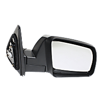 Mirror Manual Folding Heated - Passenger Side, Power Glass, Chrome