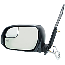 Mirror - Driver Side, Power, Heated, Folding, Paintable, With Blind Spot Glass