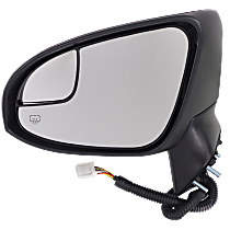 Mirror - Driver Side, Power, Heated, Folding, Paintable, With Turn Signal, Blind Spot Glass and Puddle Lamp