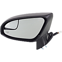 Mirror - Driver Side, Power, Heated, Power Folding, Paintable, With Turn Signal, Memory, Blind Spot Glass and Puddle Lamp