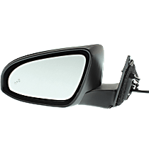 Mirror - Driver Side, Power, Heated, Folding, Paintable, With Blind Spot Function