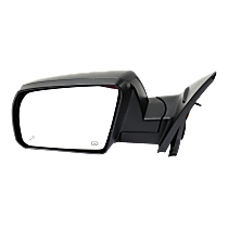 Mirror - Driver Side, Power, Heated, Power Folding, Textured Black, With Blind Spot Function, Models With Lane Change Assist