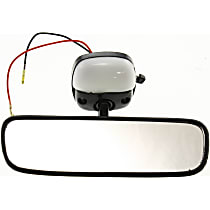 Rear View Mirror - Black, Direct Fit, Sold individually