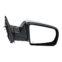 Mirror Power Folding Heated - Passenger Side, Power Glass, With Blind Spot Detection in Glass, Chrome