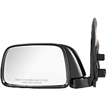 Mirror - Driver Side, Manual Glass, Textured Black