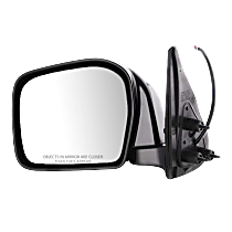 Mirror - Driver Side, Power, Folding, Paintable, For RWD or 4WD
