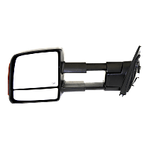 Mirror - Driver Side, Towing, Power, Heated, Folding, Textured Black, With Turn Signal, Blind Spot Glass