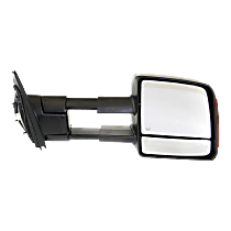 Mirror - Passenger Side, Towing, Power, Heated, Folding, Textured Black, With Turn Signal, Blind Spot Glass