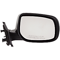 Mirror - Passenger Side, Folding, Paintable, For Hatchback