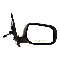 Mirror - Passenger Side, Manual Remote, Folding, Paintable, For Sedan