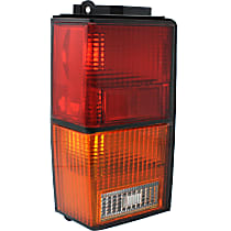 Driver Side Tail Light, Without bulb(s) - Amber, Clear & Red Lens