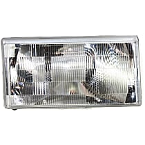 Passenger Side Halogen Headlight, Without bulb(s)