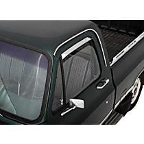 Polished Window Visor, Front, Driver and Passenger Side - Set of 2