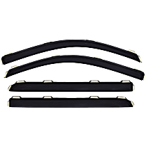 194262 Smoke Window Visor, Front and Rear, Driver and Passenger Side - Set of 4