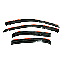 194427 Smoke Window Visor, Front and Rear, Driver and Passenger Side - Set of 4