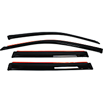 194744 Smoke Window Visor, Front and Rear, Driver and Passenger Side - Set of 4