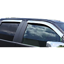 684076 Chrome Window Visor, Front and Rear, Driver and Passenger Side - Set of 4