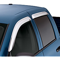 Chrome Window Visor, Front and Rear, Driver and Passenger Side - Set of 4